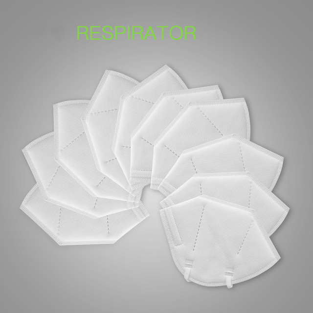 5 pcs/bag KN95 Face Mask Dust Masks KN95 Mask ffp2 Respirator 5-Layer Protective Filter Breathable Mouth mask Cover Reusable 2