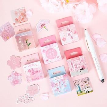 Mr.paper 6 Designs 45 Pcs Pink Girlish Sakura Sweet Scenery Love Japanese Stickers Scrapbooking Bullet Journal Deco - discount item  23% OFF Stationery Sticker