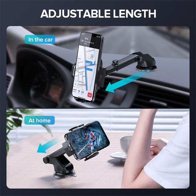 INIU Sucker Car Phone Holder Mobile Phone Holder Stand in Car No Magnetic GPS Mount Support For iPhone 11 Pro Xiaomi Samsung 4