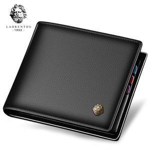 Image 1 - LAORENTOUกระเป๋าสตางค์ผู้ชาย 100% หนังแท้กระเป๋าหนังสั้นVINTAGEวัวหนังเหรียญกระเป๋ากระเป๋าสตางค์กระเป๋าสตางค์มาตรฐานผู้ถือบัตร