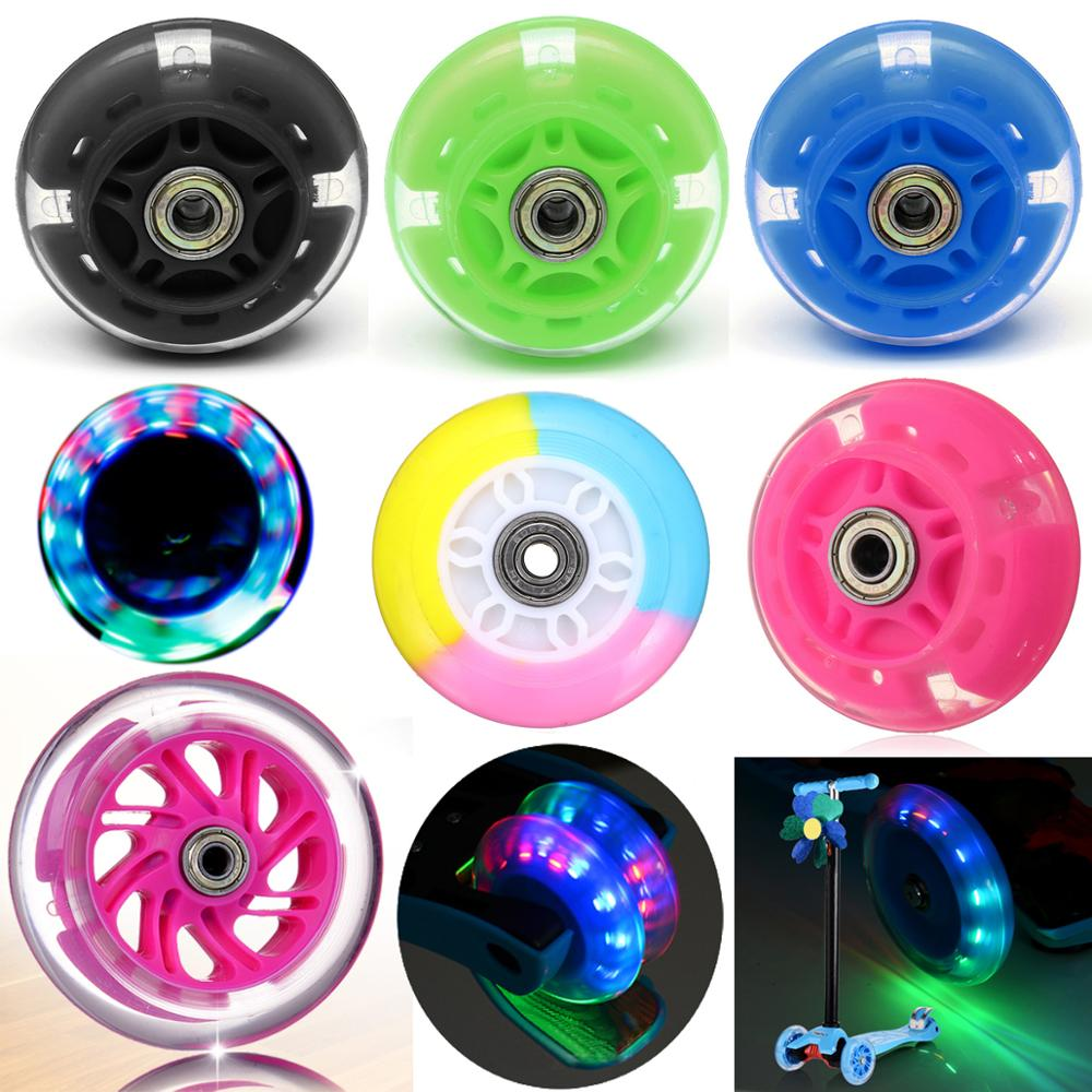 Scooter Wheel LED Flash Light Up Scooter Wheel for Mini Scooter with 2 ABED-7 Bearings 100mm
