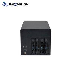 2020 4 bahías Hot-swap Servidor de almacenamiento NAS chasis IPFS minero con 6GB Backplane Celeron J1900 placa base 120W fuente de alimentación 4G RAM