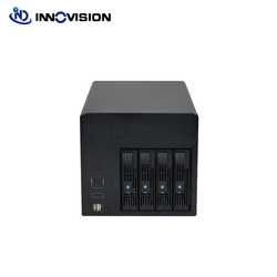 2020 4Bays Hot-Swap Nas Storage Server Chassis Ipfs Mijnwerker Met 6 Gb Backplane Celeron J1900 Moederbord 120W Voeding 4G Ram