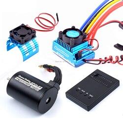 3650 3100KV bezszczotkowy silnik i 45A 60A 80A 120A bezszczotkowy esc z programem Car Combo dla 1:10 RC samochód zdalnie sterowana łódka RC część|Części i akcesoria|Zabawki i hobby -