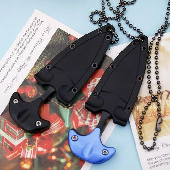 Outdoor Tools Multifunctional Mini Hanging Necklace Knife Protable Outdoor Camping Knife Rescue Survival Tool Tea Knife Tool image