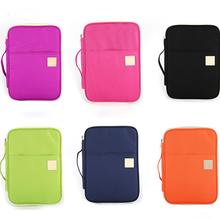 Multifunctional Business Organizer Bag A4 Document Storage Bag Waterproof Oxford Cloth Zipper File Folder Stationery Organizer