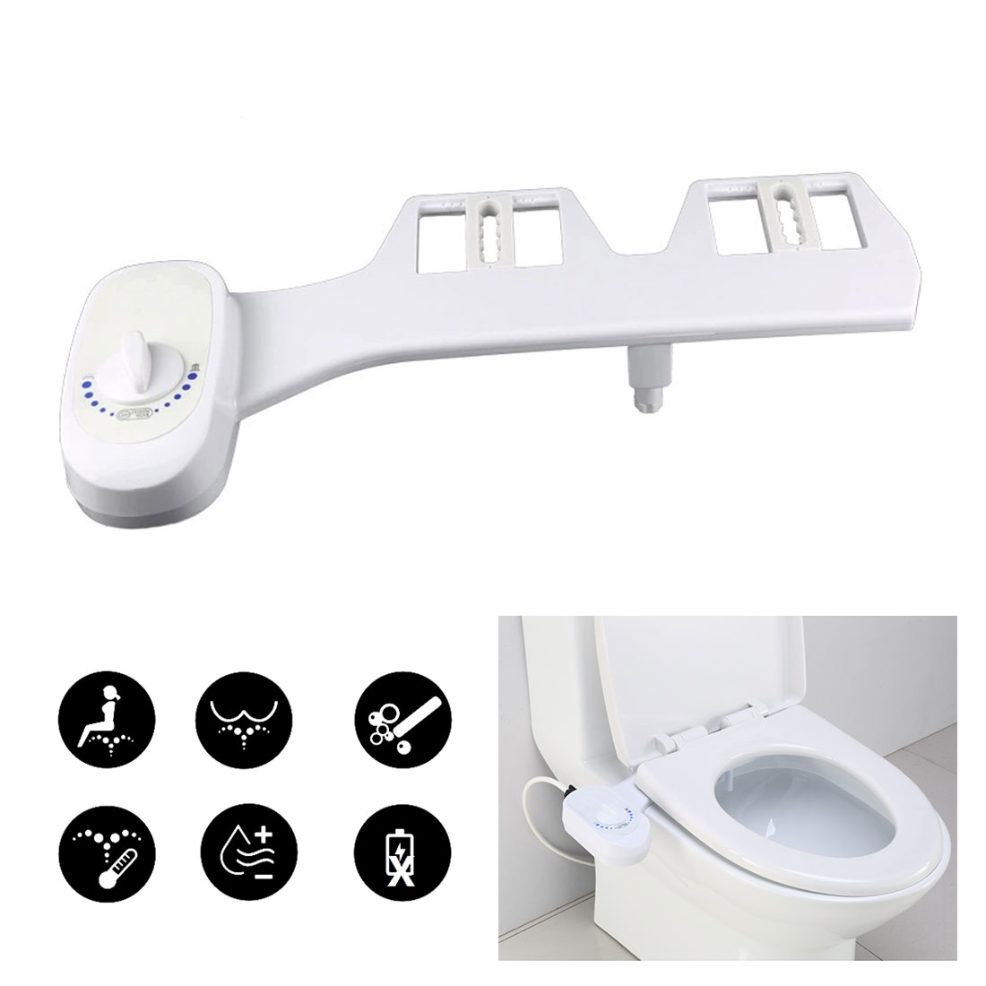 Non-Electric Toilet Bidet Seat For Pregnant Women Self-Cleaning Nozzle Mechanical Bidet Muslim Shower Fresh Water Bidet Sprayer