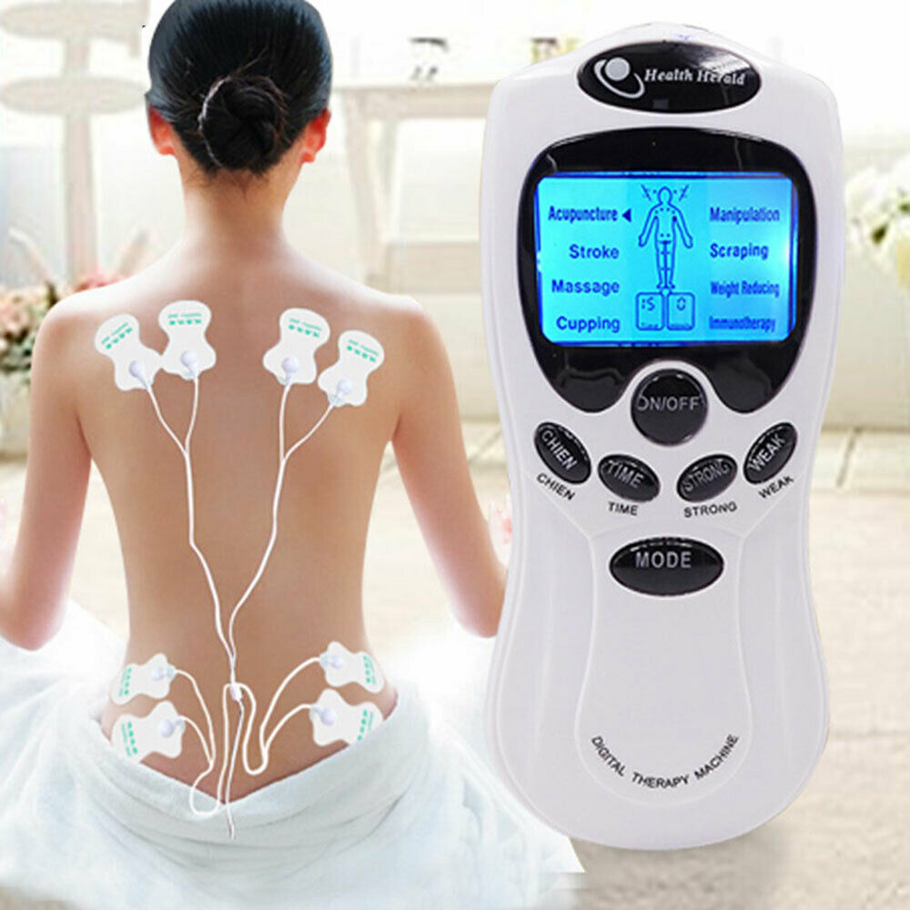 Health Care Digital Therapy Machine Electric Herald Tens Acupuncture Full Body Massage For Back Neck Foot Leg 8 Pads Dual Charge