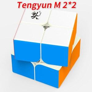 Image 2 - דיין 2x2x2 TengYun M מגנטי קסם קוביית 2x2 cubo magico חינוכיים צעצועי אלוף תחרות מקצועי קוביית צעצועים