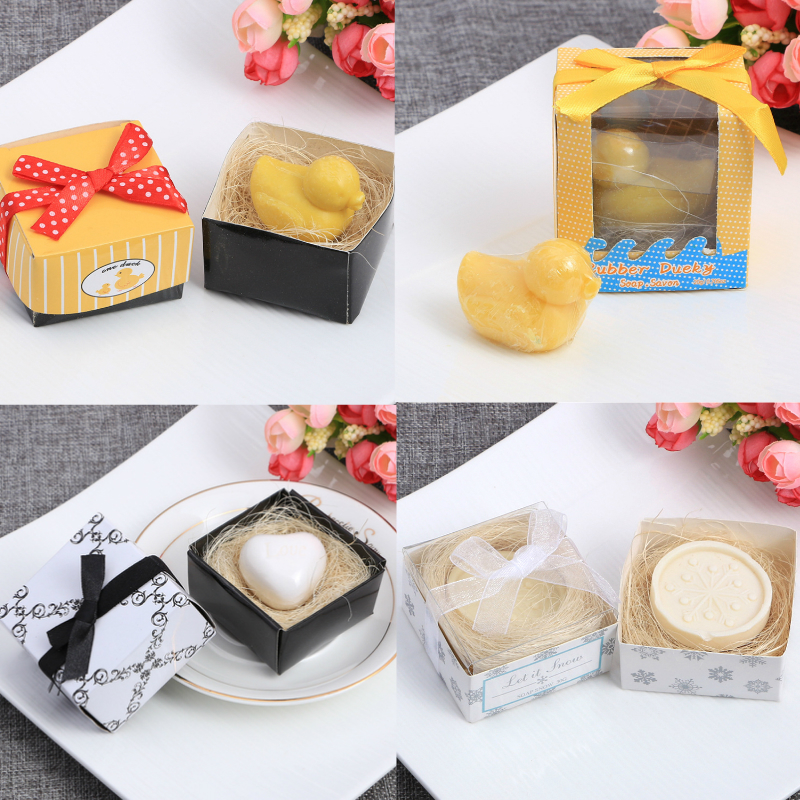 Cute Animals Shape Boxed Handmade Soap Unique Souvenir Scented Soap As Party Wedding Gift Hand Washing Travel Bath Soap TSLM1