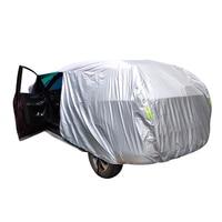 유니버설 SUV/세단 전체 자동차 커버 야외 방수 태양 비 눈 보호 UV 자동차 우산 실버 자동 케이스 커버 S XXL 자동차 커버    -