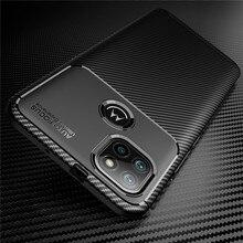 Carbon Fiber Case For Motorola G9 Power Soft Bumper Protective Phone Cover For Moto G9 Play G8 Plus E7 2020 Shockproof Cases