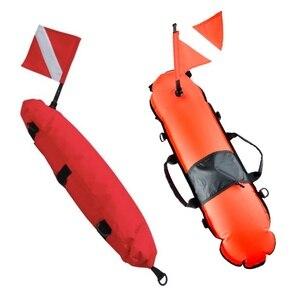 Boya flotante de señal de Buceo Submarinismo inflable + Banner bandera de buceo natación libre buceo snorkel Accesorios