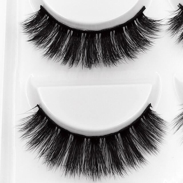 5 Pairs 3D Mink Hair False Eyelashes Natural/Thick Long Eye Lashes Wispy Makeup Beauty Extension Tools Makeup Eyelashes Volume 4