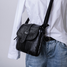 Soft Leather Shoulder Bag For Women, Cross Black Women женские сумки