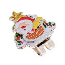 Прочный Санта Клаус магнит, заколка на шляпу маркер мяча для гольфа, пригодный для Кепки козырек подарок