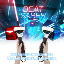Dual Handles Extension Grips for Oculus Quest 2, Quest or Rift S Controllers Playing Beat Saber Games
