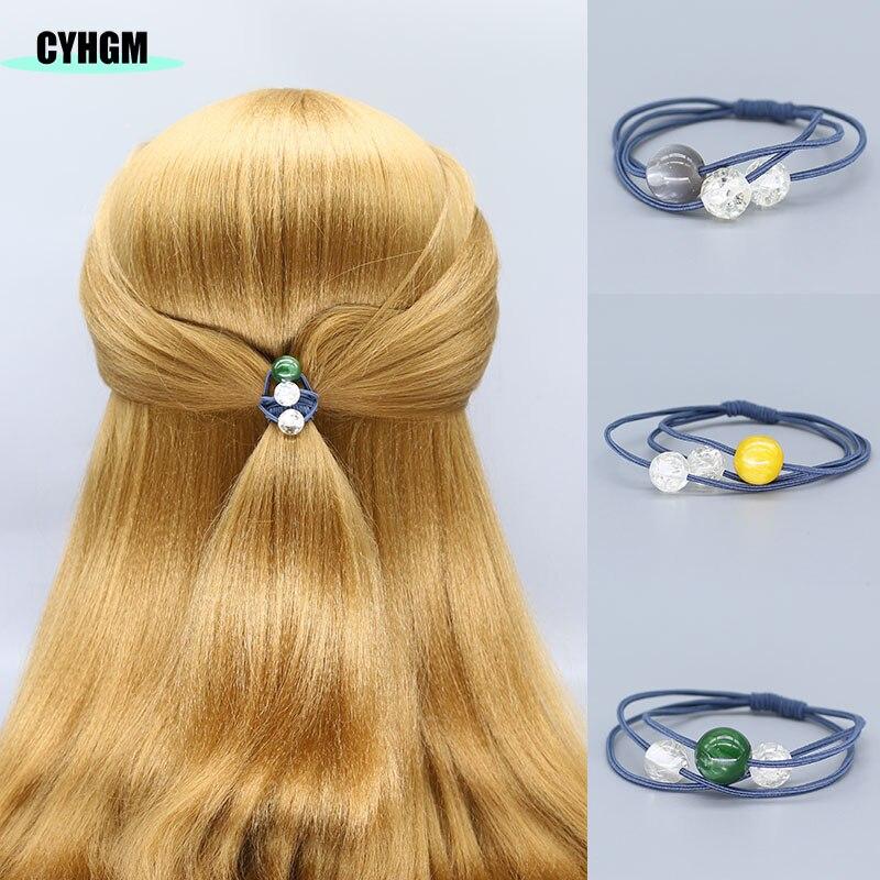 Elastic Hair Bands Hair Ties Coleteros Velvet Satin Scrunchie Pelo Mujer Girls Women Hair Accessoires Cheveux A Tresser F03-6