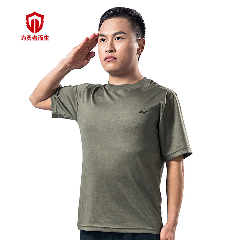 Physical Fitness Suit Summer Sea Training Suit Training Clothes Short-sleeved Top Quick-Dry MEN'S T-shirts Wholesale Factory Hor