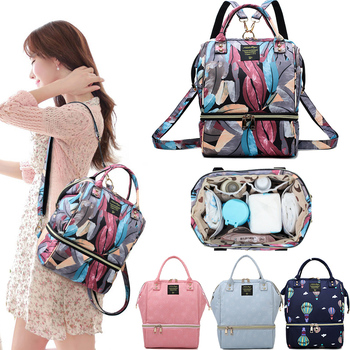 цена на Mommy Diaper Bag Large Capacity Baby Nappy Bag Nursing Bag Fashion Travel Backpack Baby Bag Waterproof Maternity Mummy Bag