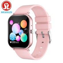 Shaolin relógio inteligente temperatura toque completo rastreador de fitness monitor de freqüência cardíaca compra sangue masculino p8 smartwatch para apple