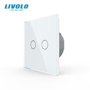 Image 2 - Livolo interruptor do sensor de toque da parede de luxo, interruptor de luz, vidro de cristal, tomada de energia, tomadas multifuncionais, escolha livre, nenhum logotipo