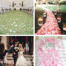 1000 шт Искусственные лепестки роз для девочек в цветочек бросить Шелковый лепесток искусственные лепестки для свадебные конфетти вечерние украшения событие JK111