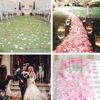 1000pcs Fake Rose Petals Flower Girl Drop Silk Petal Artificial Petals For Wedding Confetti Party Event Decoration Marriage JK11