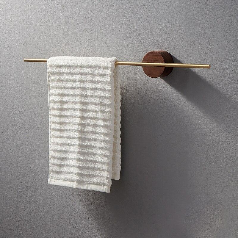 Ванная сантехника Креатив дизайн съемная полотенце вешалка простая латунь ванная полотенце штанга без гвоздя установка