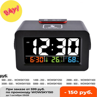 Idee Nachtkastje Wakker Digitale Wekker Met Thermometer Hygrometer Vochtigheid Temperatuur Tafel Bureauklok Telefoon Oplader