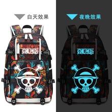 купить Cosplay Backpack Anime One Piece School Luminous Shoulder Bag Satchel Laptop Rucksack Knapsack Teenager Casual Travel Gift по цене 1924.63 рублей