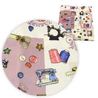 David accessories 50*145cm Sewing Tool patchwork Polyester&cotton Fabric for Tissue Kids Bedding Home Textile for Sewing,1Yc7436