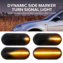 Smoke Lens Dynamic Amber LED Fender Side Marker Blinker Lamp Turn Signal Light Side Fender Marker Lamp for SEAT Leon Ibiza