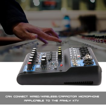 8 Channel DJ Mixer Audio Professional Power Mixing Amplifier digital mixer USB Slot 16DSP +48V Phantom Power US Plug