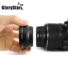 GloryStar 58MM 0.45x 와이드 앵글 렌즈 + 캐논 EOS 350D/400D/450D/500D/1000D/550D/600D/1100D 용 매크로 렌즈 Nikon