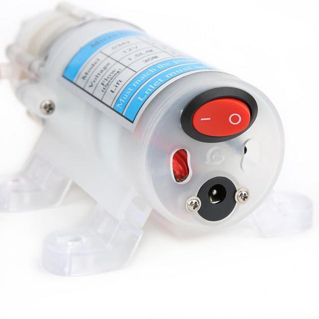 Bomba de água ultrassilenciosa dc 12v 15w, bomba de água submersível de grau alimentício, auto primagem, micro diafragma bomba de alta qualidade