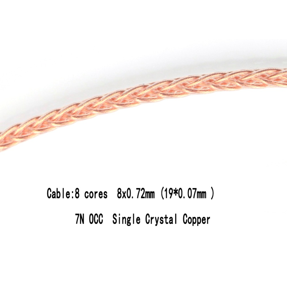 Free-Shipping-Haldane-8-Cores-7N-OCC-Single-Crystal-Copper-Headphone-Upgrade-Cable-for-Meze-99