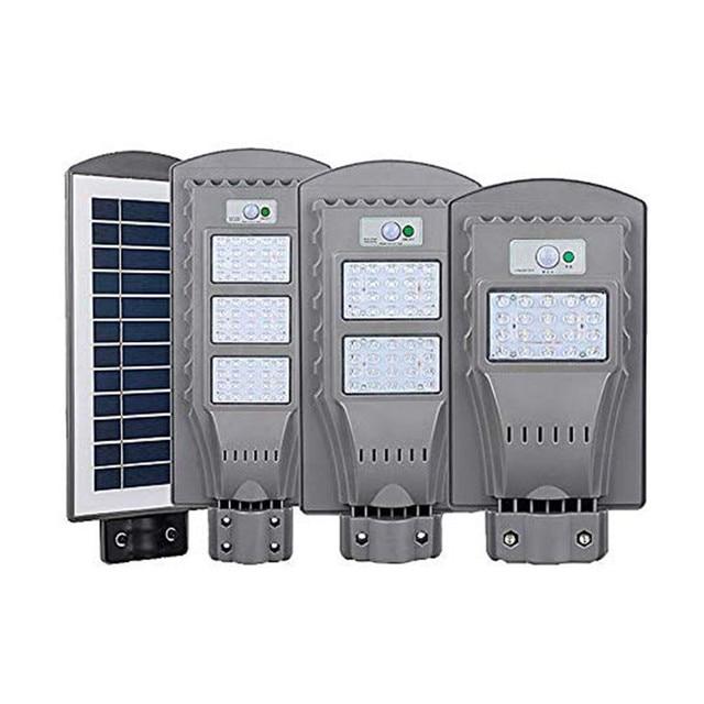 Réverbères solaires de LED éclairage extérieur 20W 40W 60W capteur de mouvement étanche lumière de jardin pour chemin mur lampe solaire intelligente blanc