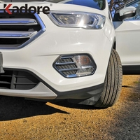 For Ford Kuga Escape 2017 2018 2019 Chrome Front Head Fog Light Lamp Cover Bezel Car Styling Foglight Trim Auto Accessories
