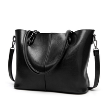 2019 New Tote Retro-vintage PU Leather Super Large Capacity Slant Womens Bag Single Shoulder High Quality