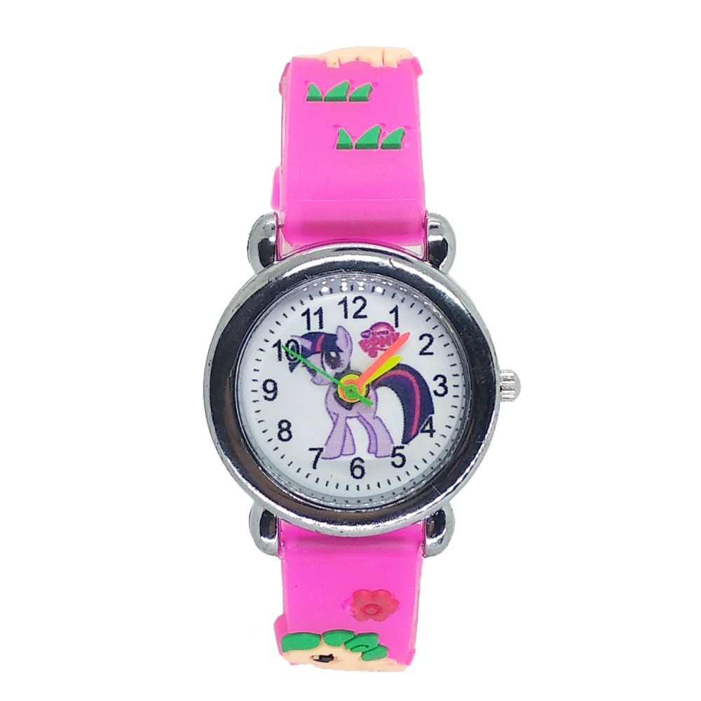 2020 Dropshipping Cute Horse Girl Watch Child Silicone Strap Watches Little Yellow Man Children Wristwatches For Kids Gift Clock