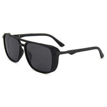 PARZIN Gafas De Sol cuadradas polarizadas para hombres marco De Metal Retro...