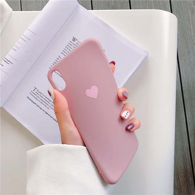 Love Heart Candy Silicone Phone Cases For iPhone 7 XR X XS 11 Pro Max Case For iphone 6 6S 7 8 Plus Case Soft TPU Back Cover