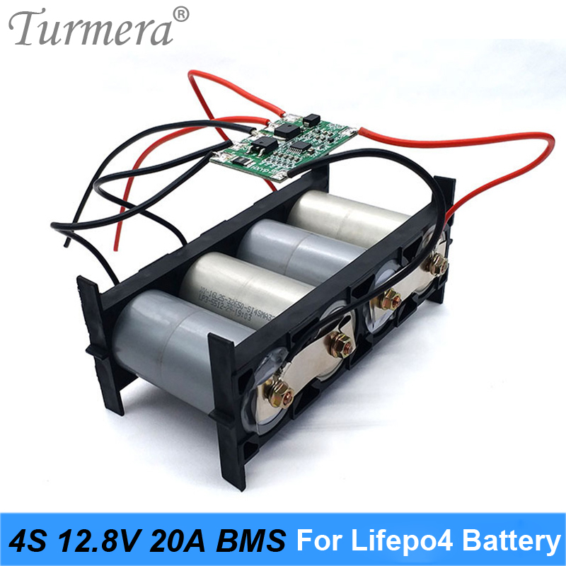 Turmera 4S 20A 12.8V 14.4V 32650 32700 Lifepo4 Battery Balanced BMS for Electric Boat Uninterrupted Power Supply 12V Car Battery|Battery Accessories|   - AliExpress