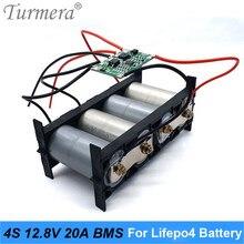 Turmera 4S 20A 12,8 V 14,4 V 32650 32700 Lifepo4 Batterie Ausgewogene BMS für Elektrische Boot Unterbrechungsfreie Liefern 12V Auto Batterie