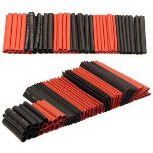 127/328/530 шт./компл. термоусадочные трубки Электрическая обертка провода кабельные рукава PE 2:1 изолированные рукава ассорти
