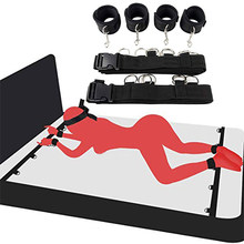 Brinquedos sexuais eróticos para a mulher casais algemas bdsm bondage conjunto sob cama sistema cinta de retenção adultos tornozelo punhos acessórios