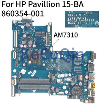 KoCoQin Laptop motherboard For HP Pavillion 255 G5 15-BA Mainboard AM7310 LA-D711P 858588-001 860354-001