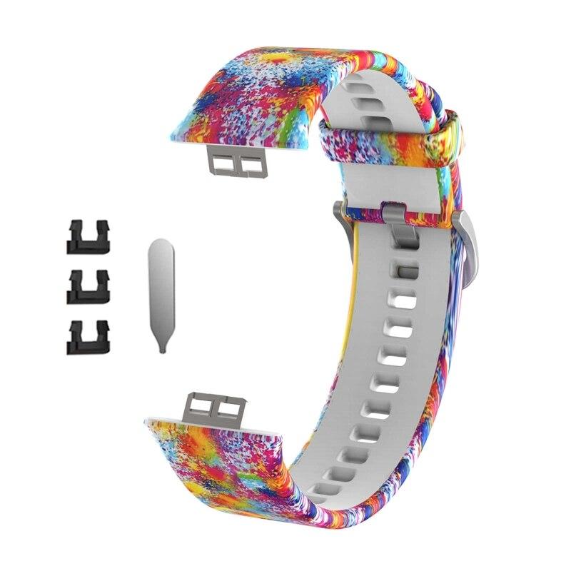 Pulseira de silicone para-huawei relógio ajuste relógios