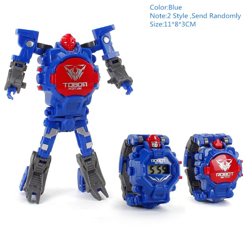 Creative Electronic Robot Watch Cartoon Transformation Wristwatch Toy For Boy Deform Robot Watch Toy Birthday Gifts